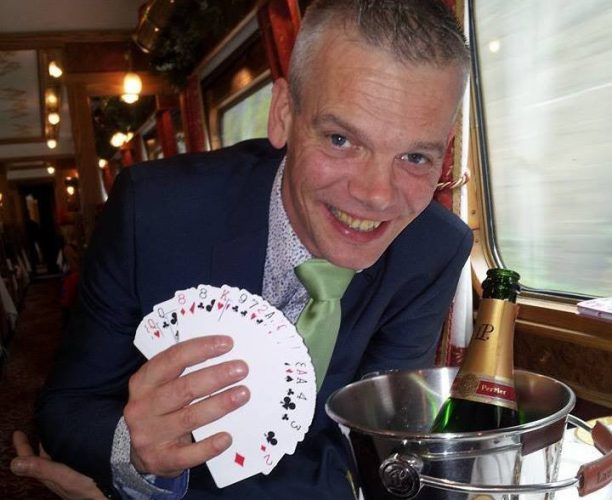 Mr Ludo, Magician who performed at the Railway Children Steam Special, organised by Nimble Media