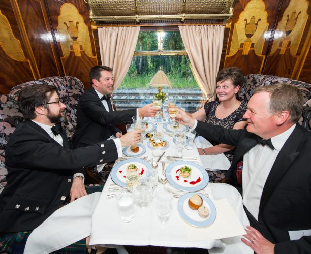 Guests onboard the train at the Railway Children Steam Special, organised by Nimble Media
