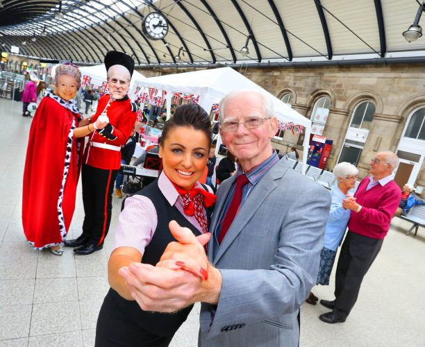 Tea Dance at Newcastle held by Virgin Trains part of Station to Station Queens Celebration