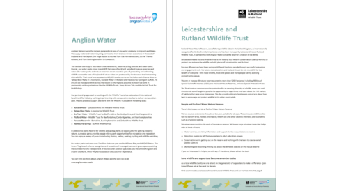 Anglian Water Nature Reserve - Corporate Information Boards